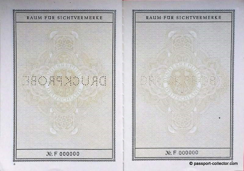 Sixty-seven years of passport design and security features
