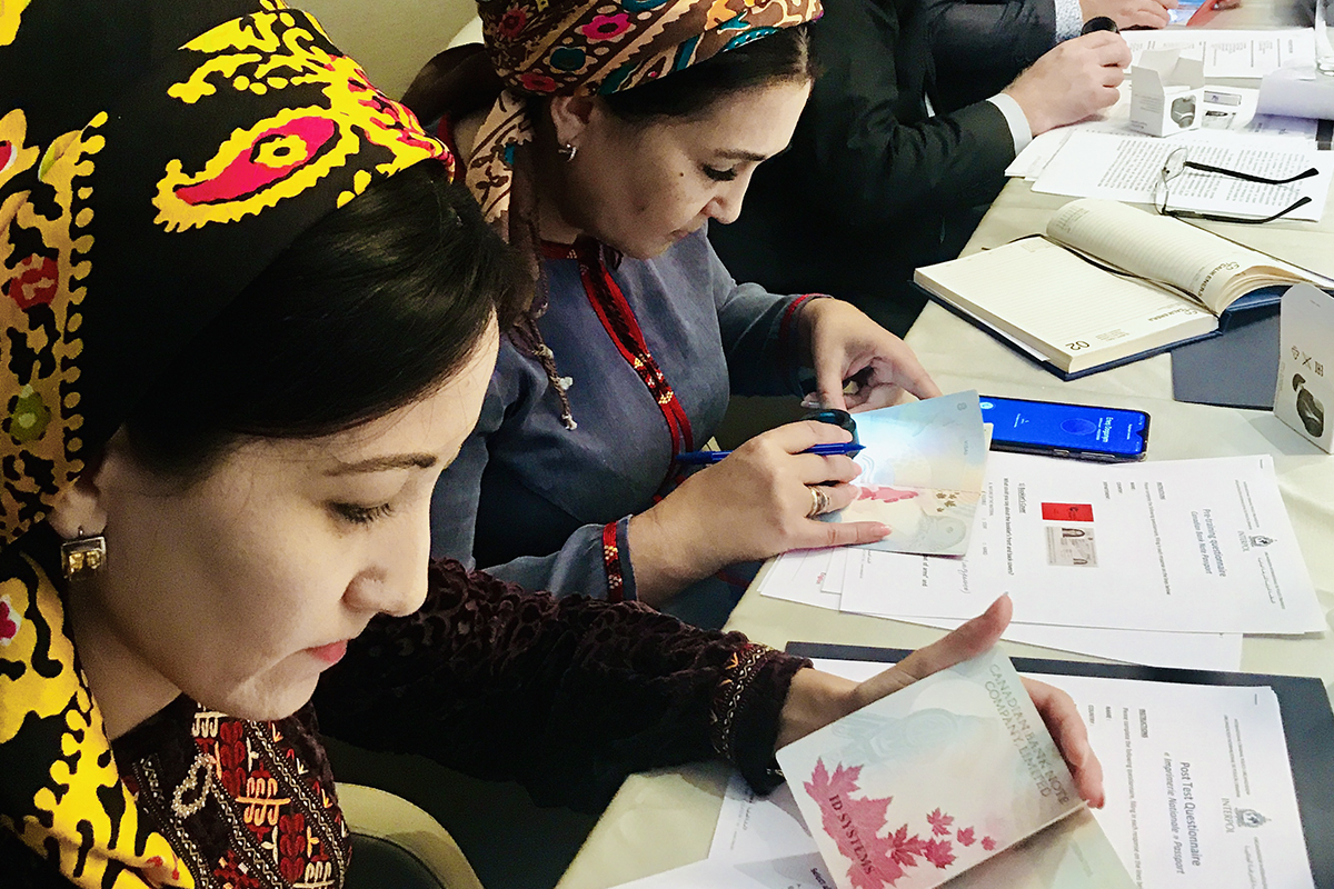 Regula together with INTERPOL is carrying out training on travel document examination in Turkmenistan