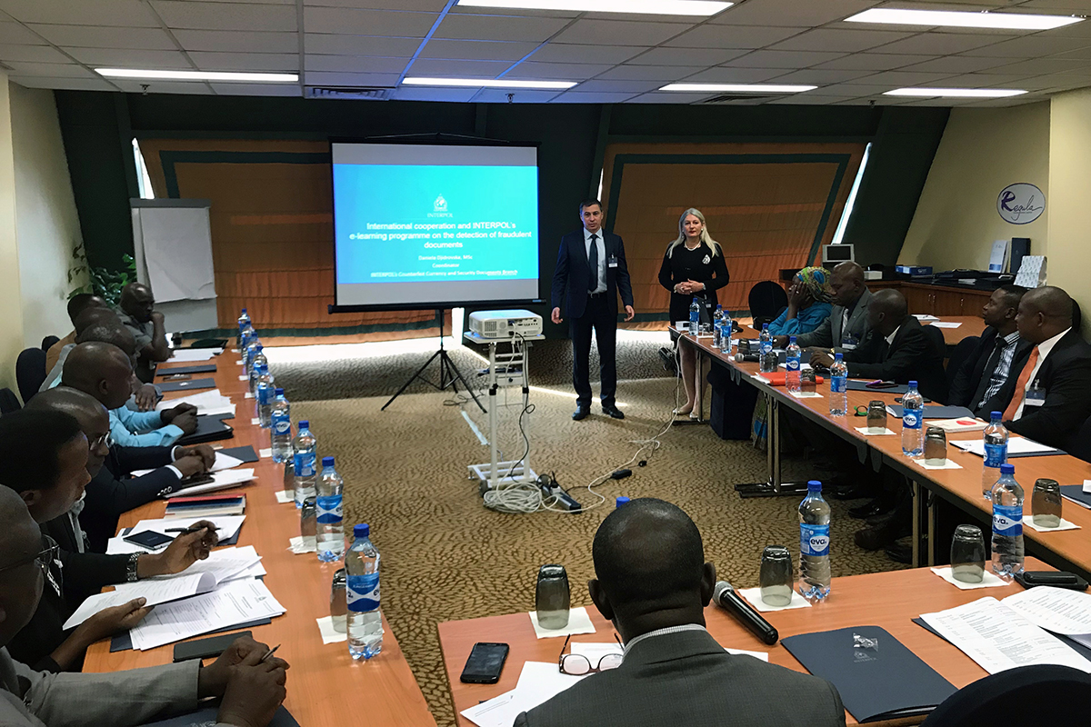 Regula together with INTERPOL is carrying out training on travel document examination in Nigeria