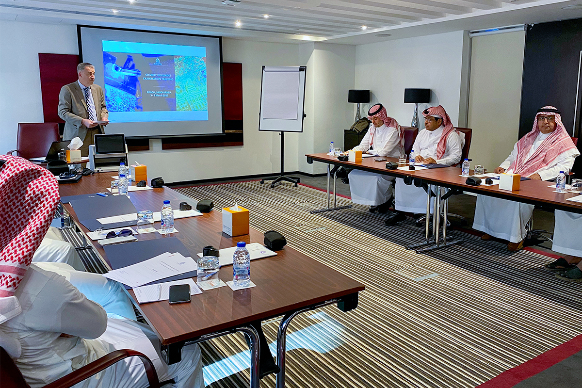 Regula together with INTERPOL is carrying out training on security document examination in Saudi Arabia
